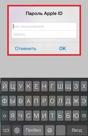 Apple ID и пароль