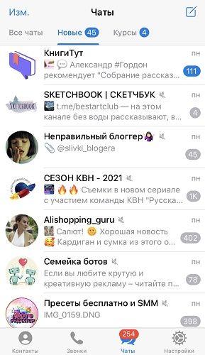чаты телеграма